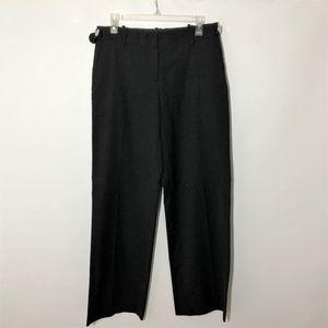 Tory Burch Black Pants Wide Leg Wool Blend 8